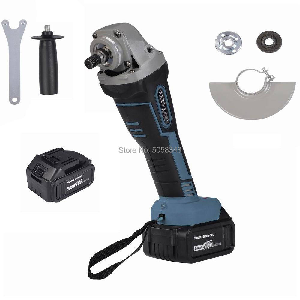 Rechargeable Cordless Angle Grinder Impact Angle Grinder Brushless Angle Grinder With Two 18V 4000mAh Lithium Batteries