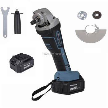 rechargeable cordless Angle Grinder Impact angle grinder brushless angle grinder with two 18V 4000mAh lithium batteries angle grinder energomash ushm 90112