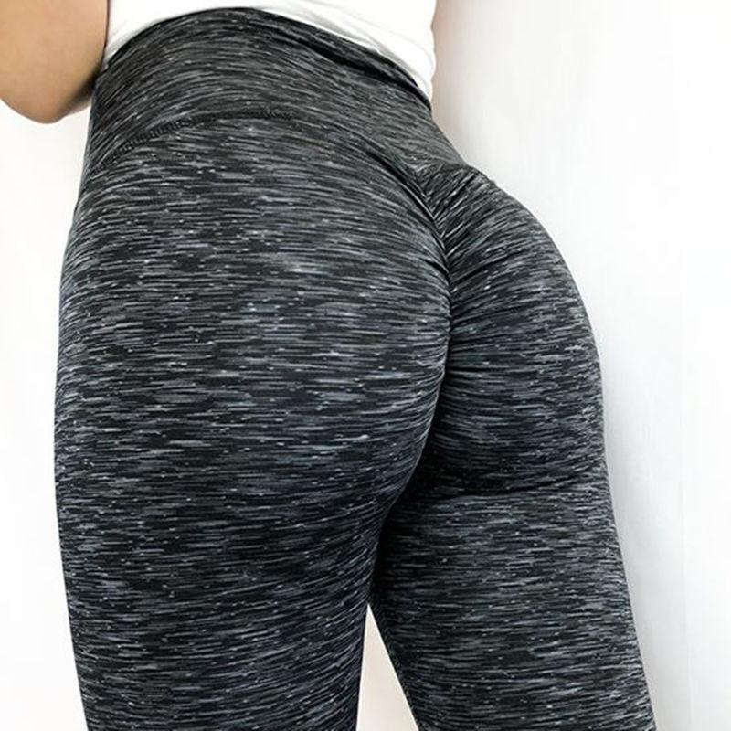 Женские леггинсы из полиэстера высокого качества, тренировочные леггинсы с высокой талией, эластичные сексуальные лосины для фитнеса