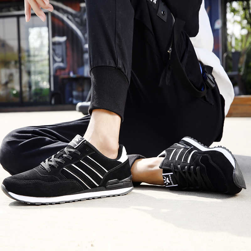 Pria Kasual Sepatu Ringan Kulit Suede Sepatu 2020 Baru Klasik Pria Sepatu Lari Luar Ruangan Bernapas Joging Olahraga Sepatu