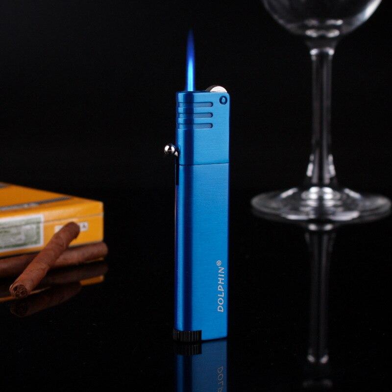 Бутановая турбозажигалка, мини-газ, легкие металлические зажигалки, аксессуары для курения, зажигалки для сигарет, гаджеты для мужчин