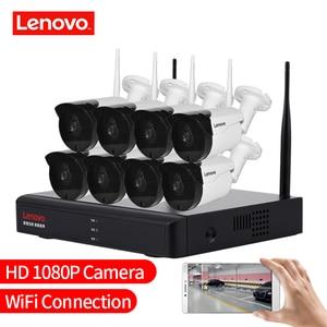 Image 5 - 레노버 무선 CCTV 시스템 1080P 야외 CCTV 카메라 2MP 8CH NVR IP IR CUT IP 보안 시스템 비디오 감시