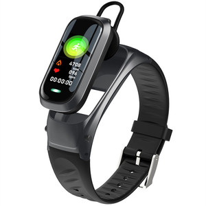Image 1 - B9 חכם שיחת צמיד Bluetooth אוזניות צמיד קצב לב צג גשש כושר אוזניות חכם להקת דיבור עבור IOS אנדרואיד