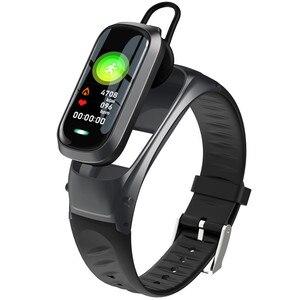 Image 1 - B9 inteligentne połączenie bransoletka Bluetooth słuchawki monitor pracy serca na nadgarstku opaska monitorująca aktywność fizyczną zestaw słuchawkowy inteligentna opaska Talk For IOS Android