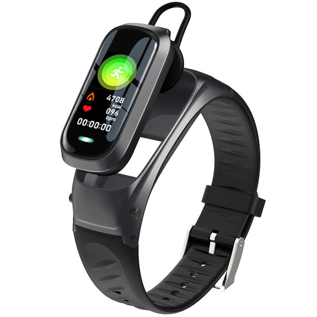 B9 inteligentne połączenie bransoletka Bluetooth słuchawki monitor pracy serca na nadgarstku opaska monitorująca aktywność fizyczną zestaw słuchawkowy inteligentna opaska Talk For IOS Android