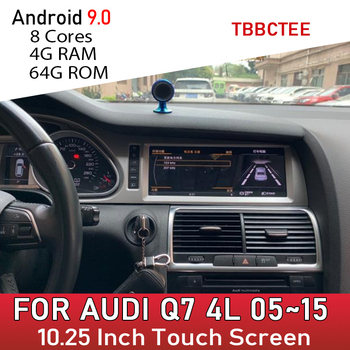 цена на Android 9.0 8 core 4+64G For Audi Q7 4L 2005~2015 GPS Navigation Car Multimedia Player MMI 2G 3G Radio head unit dvd stereo wifi