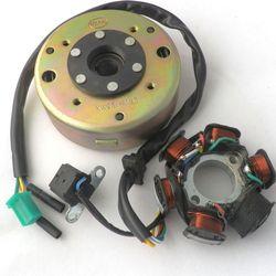 ZHUANGQIAO Магнитный статор постоянного тока 6-полюсный маховик для скутера GY6 125CC 150CC квалифицированный
