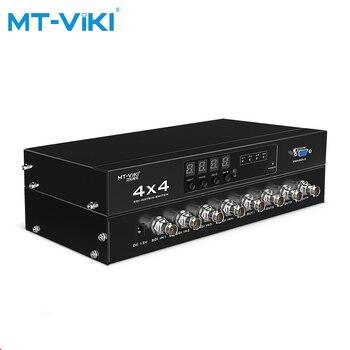 цена MT-VIKI SDI matrix switcher hd1080p 4 input 4 output broadcast HD optional input and output remote control switch MT-SDI4x4 онлайн в 2017 году