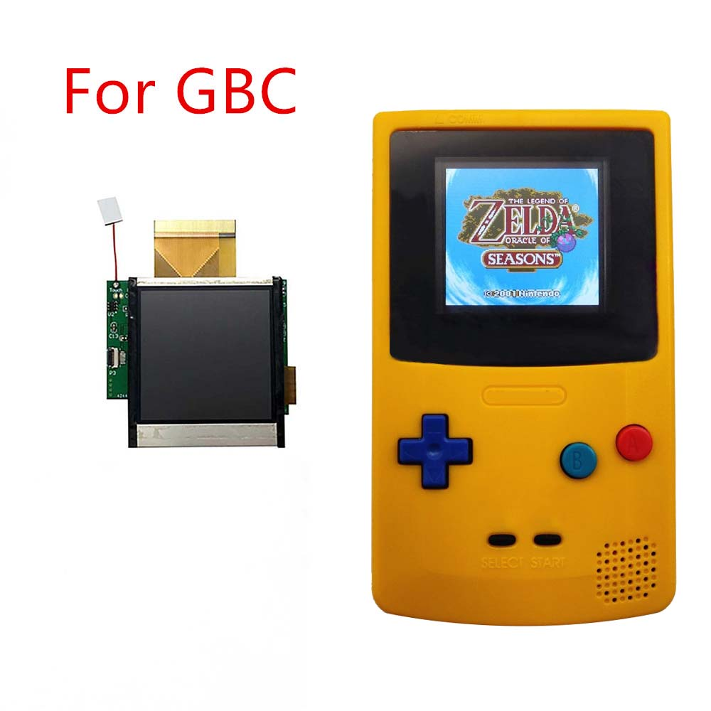 Replacement for GBC backlight LCD screen High Light Modification Kits for Nintend GBC Console LCD screen light <font><b>game</b></font> accessories image