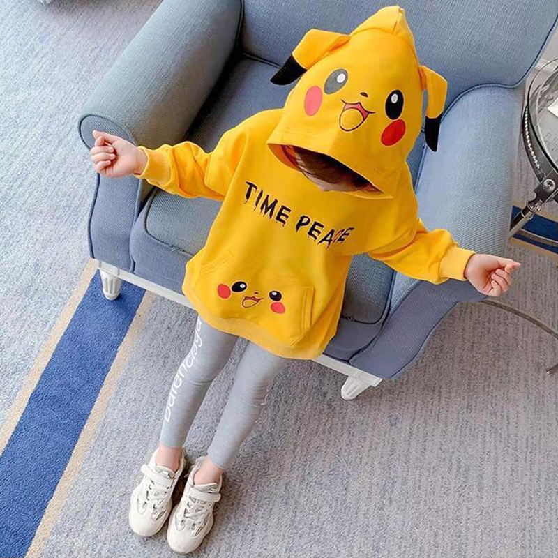 Children Clothes Autumn Cartoon Girls Sets Long Sleeve Tracksuit 2- 13 Years hoodies Girls Clothing Sport Suit Kids Clothes Sets 5