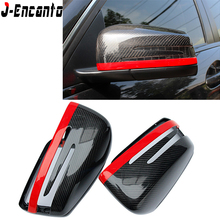 For Mercedes Benz Carbon Mirror W204 W207 W212 W176 W218 W221 caps A C CLS E CLA Class Fiber Cover