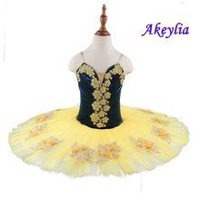 Детская синяя желтая балетная пачка для выступлений Цветочная