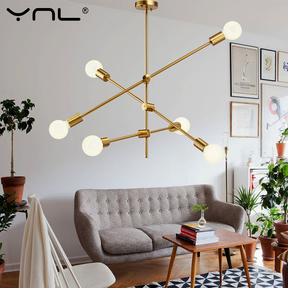 Modern Pendant Lights Hanging Lamp Black/Gold E27 Nordic Pendant Lamp Dining Kitchen Bar Living Room Home Decoration Lighting