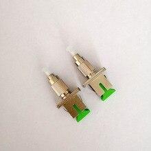 Adaptador de fibra óptica SC FC UPC macho a conector adaptador híbrido monomodo SC APC hembra, 2 unids/lote, Envío Gratis