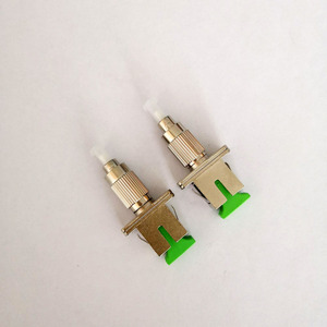 Image 1 - Free Shipping 2pcs/lot FC SC Fiber Optic Adapter FC UPC Male to SC APC Female Singlemode Hybrid Adapter Connector