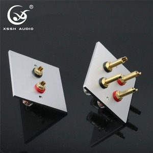Image 2 - 1 set XSSH Audio Hi End Gold Plated Amplifier Speaker Terminal Female Long Short Version Including Binding Post and banana plug