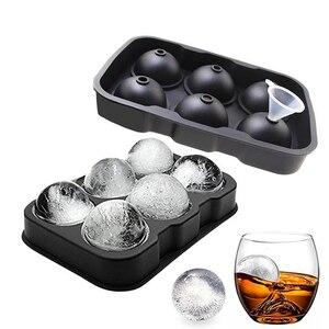 Обновленная форма для виски, силиконовая форма для льда с 6 отверстиями, форма для шариков, поднос для мороженого, DIY инструмент, силиконовая ...