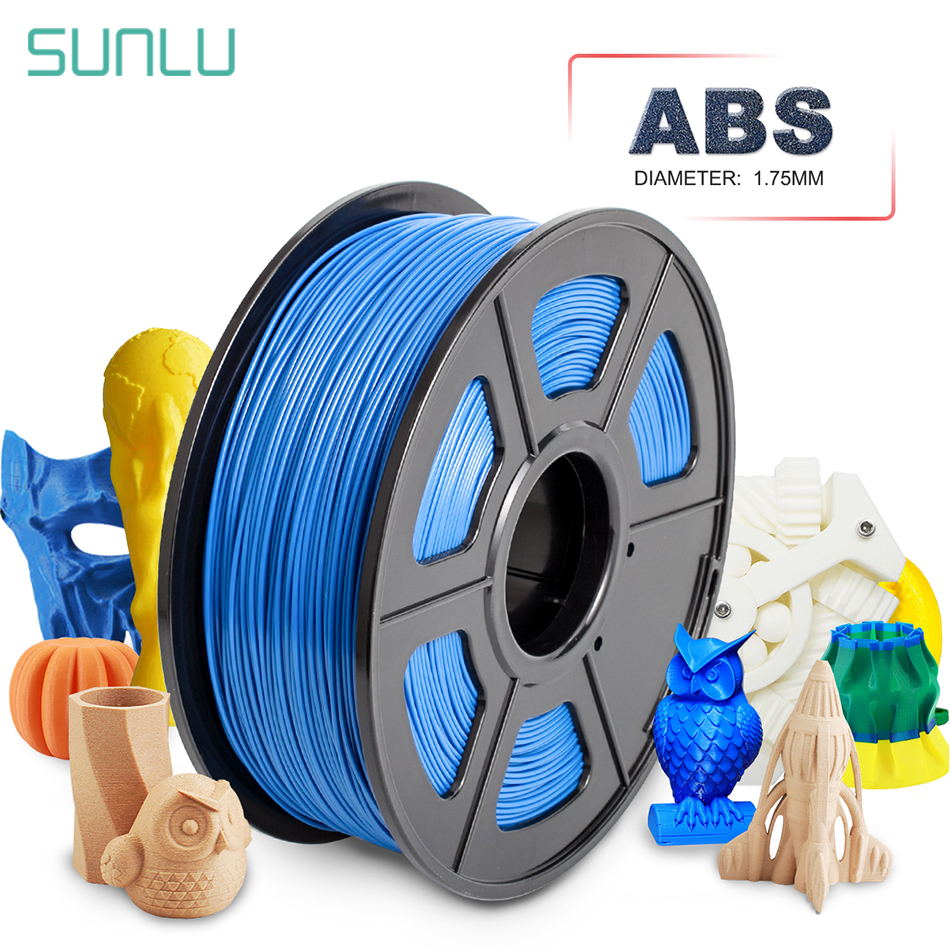 SUNLU <font><b>3D</b></font> Printer Plastic <font><b>ABS</b></font> <font><b>3D</b></font> Filament <font><b>1.75</b></font> mm 1kg <font><b>ABS</b></font> Filament <font><b>3d</b></font> Printing Materials Dimmension Accuracy +/-0.02mm image