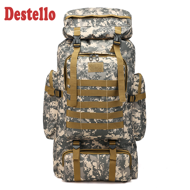 70L Waterproof Outdoor Camouflage Tactical Backpack Military Backpack Men Army Traveling Backpack For Men Hunting Hiking Bag