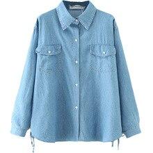 Shirt Blouse Tops Oversize Women Ladies Fashion Spring Long Tencel S6-9620 Female Casual