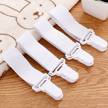 4PCS/Set Elastic Bed Sheet Mattress Cover Blankets Grippers Clip Holder Fasteners Kit Home Textiles Accessories image