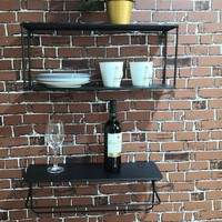 Iron Decorative Wall Shelf Storage Rack Organization for Kitchen/ Kid Room DIY Wall Decoration Holder Home Decor