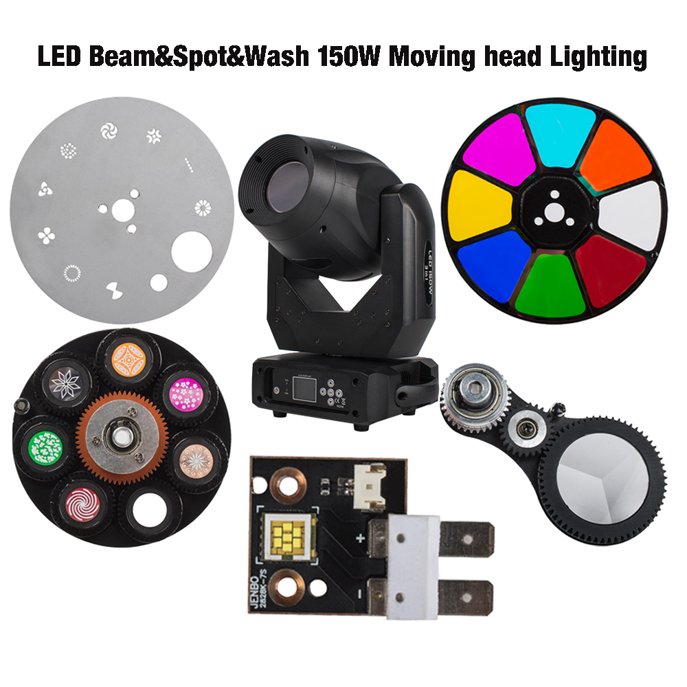 Beam 150W Lighting Parts LEDs Prism Color Gobo Wheel For Led Spot Moving Head Lighting SHEHDS