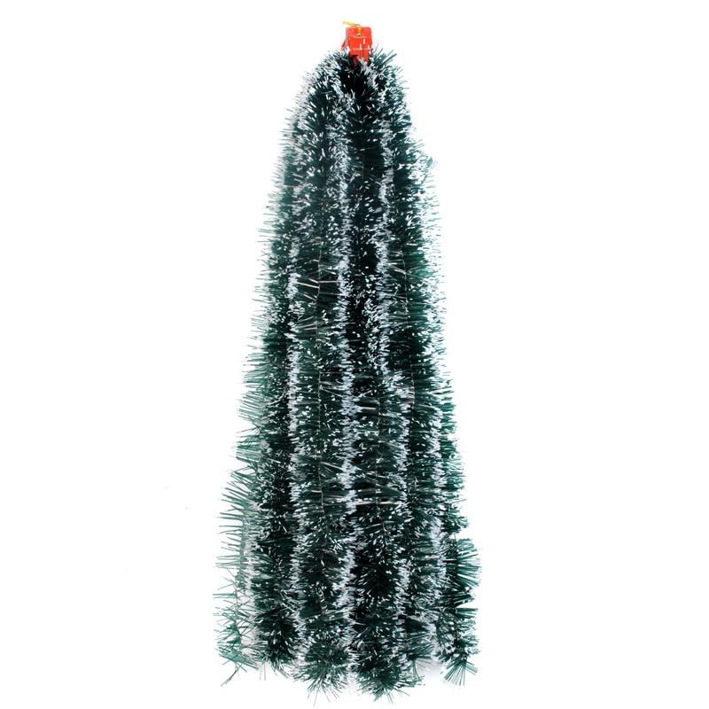 200 см фотоэлемент, топ, лента, гирлянда, украшения для рождественской елки, белая, темно-зеленая трость, мишура, товары для вечеринок