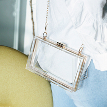 2020 New Clutch Bag Fashion Transparent Women's Party Purse  Acrylic Banquet Red Handbag Evening Wedding