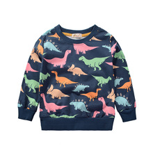 Cartoon Dinosaur Clothes 2019 Spring Long Sleeve Shirt Boys T Costume Kids Tops Tee Infantis Menino