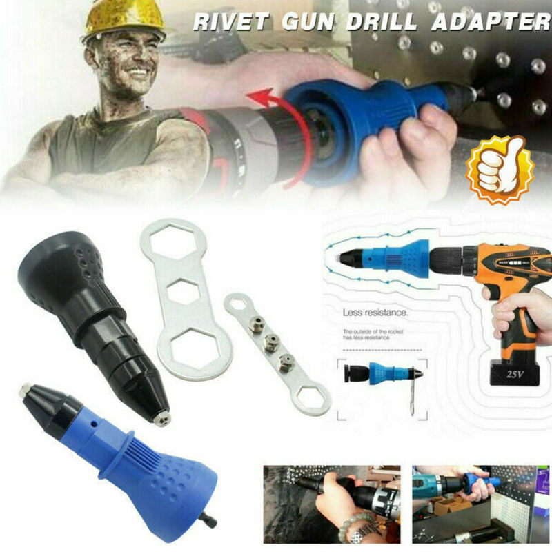 Detachable Cordless Rivet Drill Adapter Electric Riveter Insert Nut Gun Conversion Head Kit Adapter ≥1.5N.m