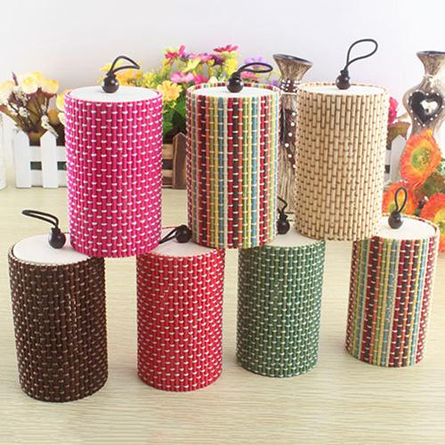 Unique Cylinder Jewelry Bamboo Wooden Storage Organizer Box Wedding Favor Case  Jewelry Box Display Gift Jewelry Organizer Uniqu