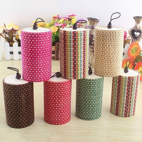 Unique Cylinder Jewelry Bamboo Wooden Storage Organizer Box Wedding Favor Case  Jewelry Box Display Gift Jewelry Organizer Uniqu