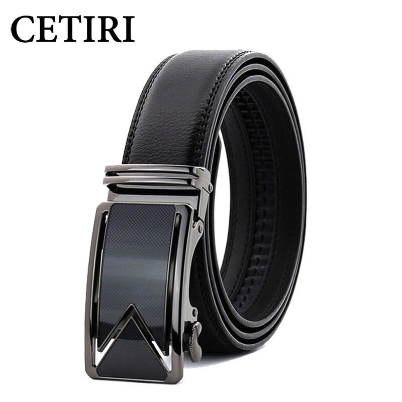 Cetiri 10 estilo 110cm 120cm 130cm 140cm 150cm 160cm moda designers homens fivela automática cinto de couro genuíno negócios preto