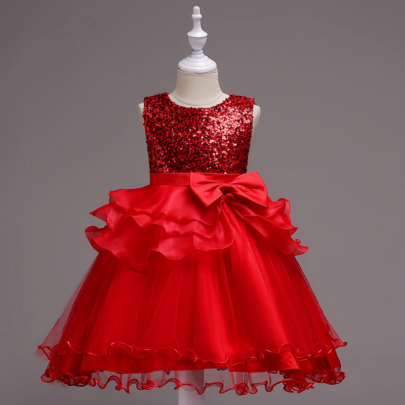 Hot Selling Princess Gauze Tutu Sequins Dress Organza CHILDREN'S Dress School Performance Dance Skirt