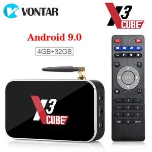 X3 Pro Smart TV Box 4GB RAM DDR4 32GB Android 9.0 TV Box S905X3 X3 cube 2GB 16GB Media Player 2.4G/5G WiFi 1000M 4K PK X2 pro