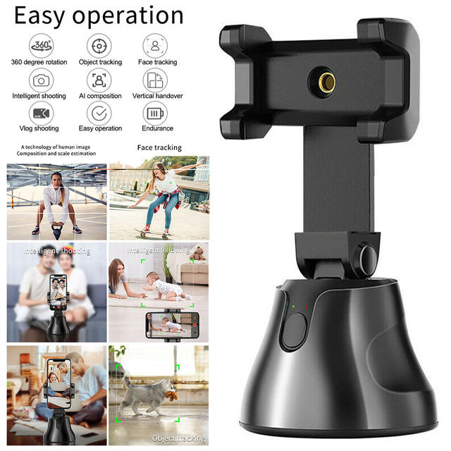 Auto Smart Phone Holder Selfie Shooting Gimbal 360 degree Face Tracking