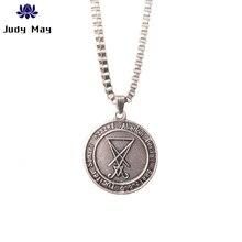 Retro Satanic Jewelry Lucifer Pentagram Baphomet Amulet Goat Satan Wiccan Satanism Pendant Necklace Jewelry Gift недорого