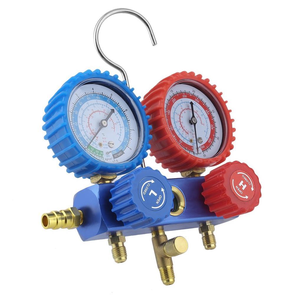 Ensemble d'outils de jauge de collecteur haute pression de Diagnostic AC climatisation 2 voies Assistant de montage pour R134a R22 R12 R502