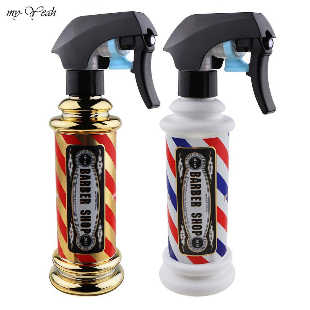 150ml Stripe Pattern Spray Empty Bottle Hair Salon Haircut Hairdressing Water Sprayer Bottle Barber Styling Sprays Tools