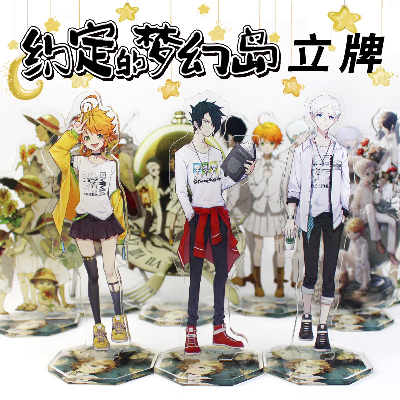 Desk-Decor Anime Yakusoku Promised Neverland Acrylic-Stand Cosplay The Norman Xmas Model-Plate