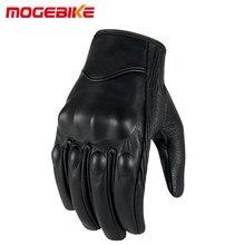 Мотоциклетные кожаные перчатки с сенсорным экраном для мужчин из натуральной козьей кожи, велосипедные перчатки для мотогонок Guantes de Moto Luvas мотоциклетный