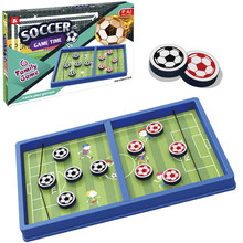 Wooden Board Game Children's Chess with Ice Hockey and Fast Slingshot Wooden Table Hockey Game Parent-child Interaction