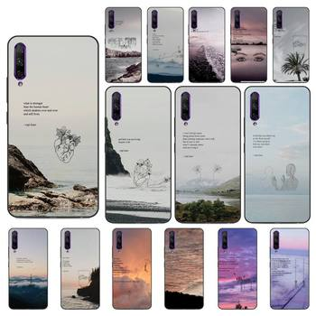 Yinuoda Rupi Kaur Beach Sea Mountain Lines Art Poetry Phone Case Huawei Y5 II Y6 II Y5 Y6 Y7 Prime Y7Plus Y9 2018 2019 image