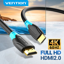 Vention hdmi cabo 4k ultra hdr banhado a ouro macho para macho hdmi 2.0 4k 60hz para ps3/4 projetor tv caixa portátil monitor cabo hdmi