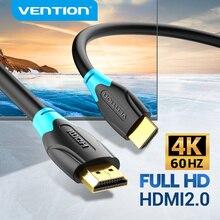 Kabel HDMI Vention 4K Ultra HDR pozłacany z męskiego na męskie HDMI 2.0 4K 60Hz dla PS3/4 projektor TV, pudełko ekran do laptopa kabel HDMI