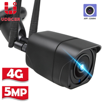 Cámara WIFI 3G 4G tarjeta SIM 5MP HD, cámara IP de seguridad 1080P para exteriores, cámara de vigilancia CCTV Bala, Audio bidireccional, P2P, APP Camhi