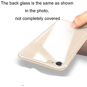 Image 2 - 3 in 1 Camera + Back + Screen Tempered Glass For iPhone SE 2 2020 Screen Protector Glass On iPhone SE 2020 protective Glass