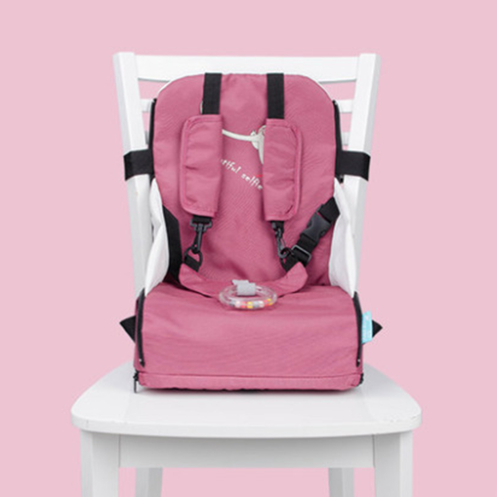 Detachable Portable Adjustable Strap Zipper Stool Oxford Cloth High Chair Folding Traveling Children Booster Seats Baby Feeding