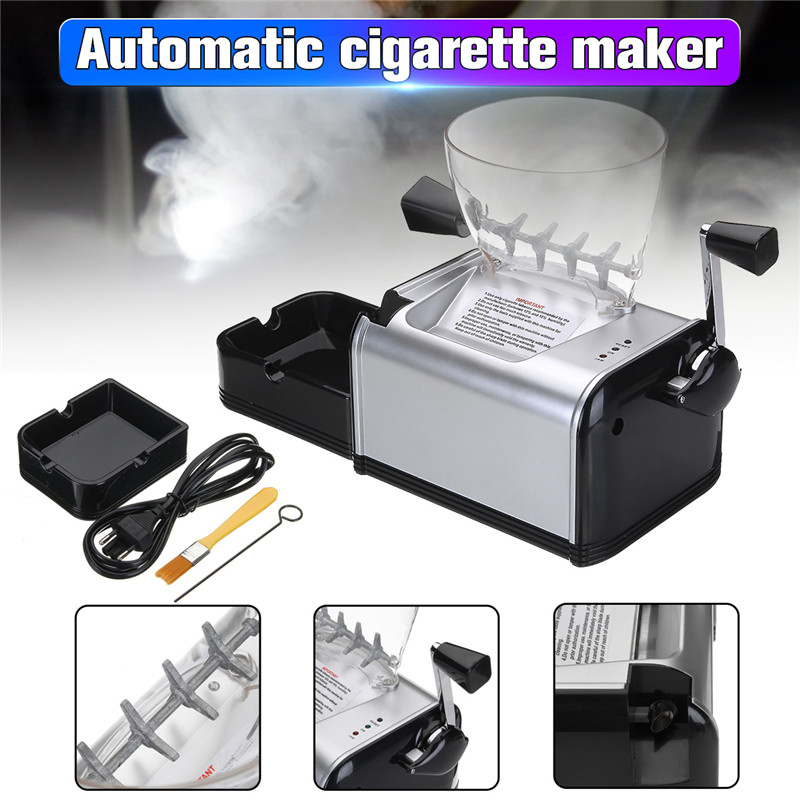 Rolling Machine for Cigarette Metal Electric Automatic Tobacco Roller Maker Electronic Cigarette Tray Tube Smoking Accessories